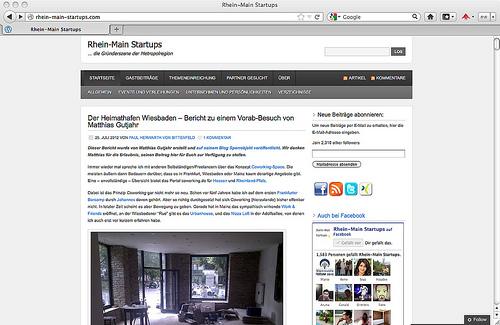Rhein-Main-Startups.com: Vorab-Bericht zum heimathafen